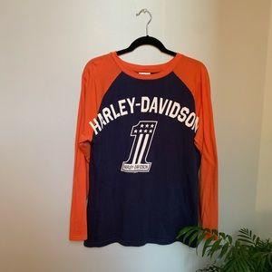 Harley Davidson Baseball Tee ⚡️